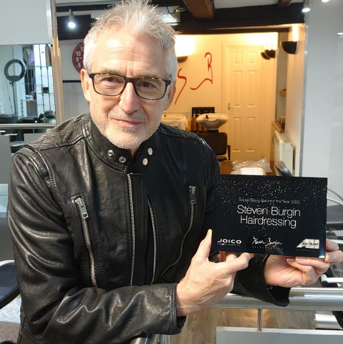 Steven Burgin Hairdressing celebrate 'Social Savvy Salon' award